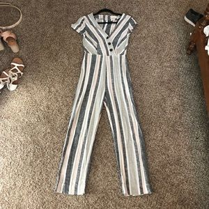 urban outfitters striped jumpsuit